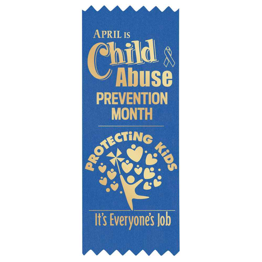 Protecting Kids: It's Everyone's Job Satin Self-Stick Ribbon