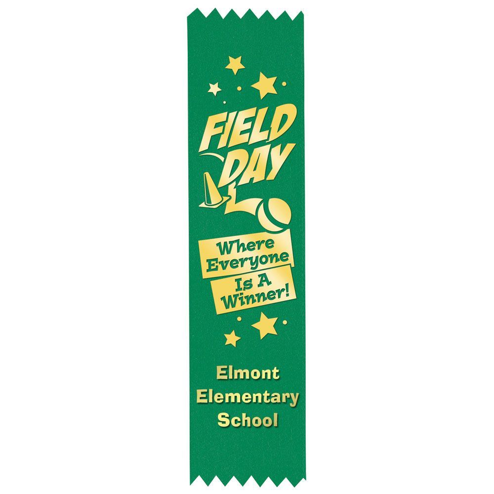 Green Custom Foil Ribbon With Self-Stick Backing - Personalization Available