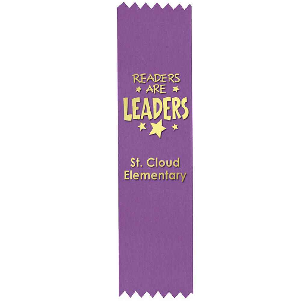 Purple Custom-Foil Ribbon With Self-Stick Backing - Personalization Available