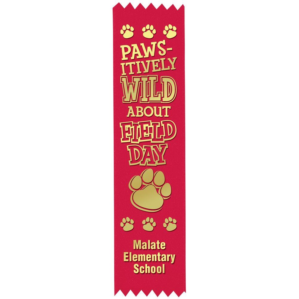 Red Custom-Foil Ribbon With Self-Stick Backing - Personalization Available