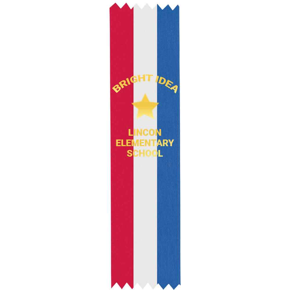 Tri-Color Custom-Foil Ribbon With Self-Stick Backing - Personalization Available