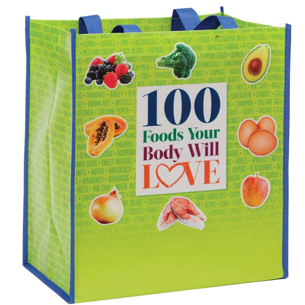 100 Foods Your Body Will Love Non-Insulated Laminated Eco-Shopper Tote