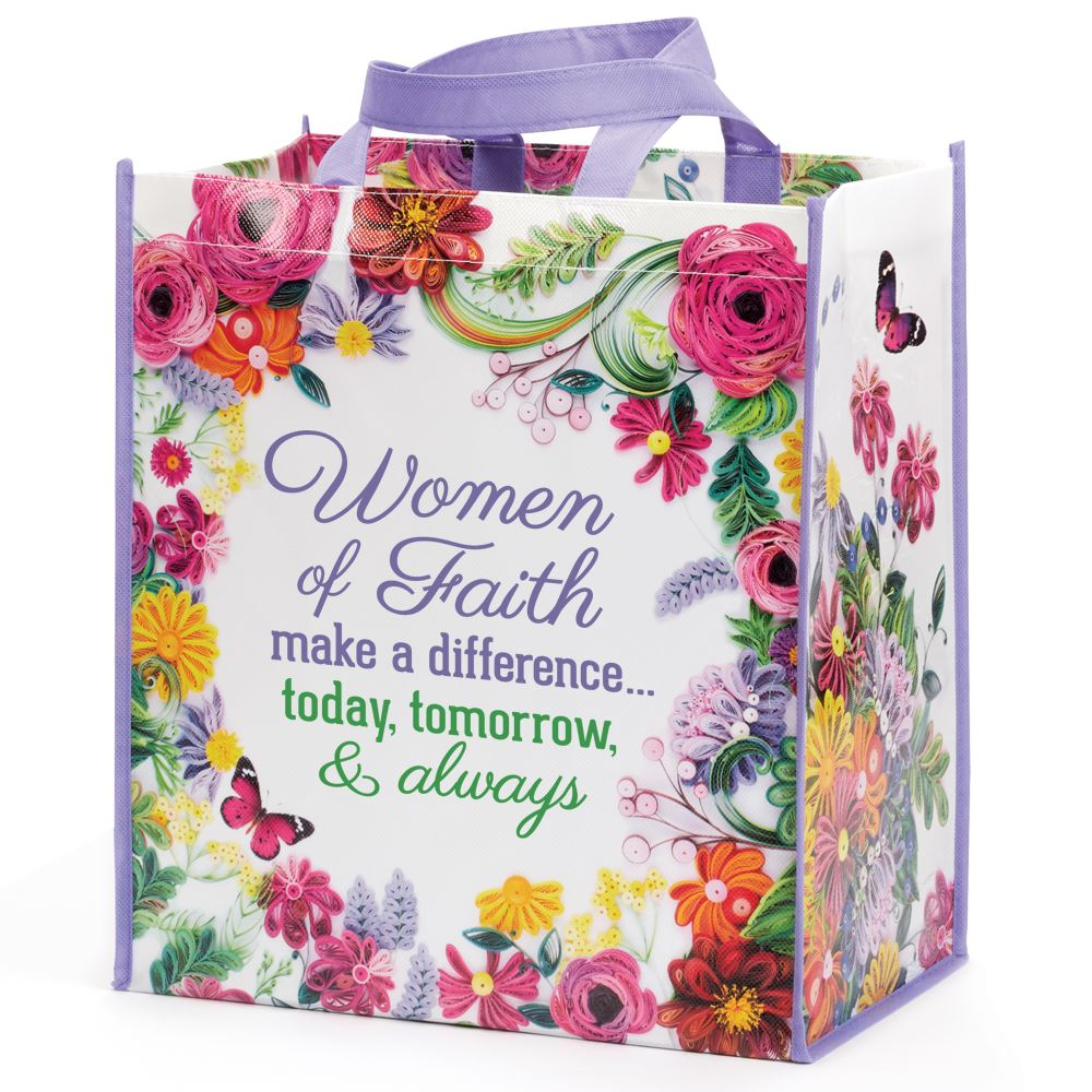 Women Of Faith Make a Difference...Non Woven Laminated Tote