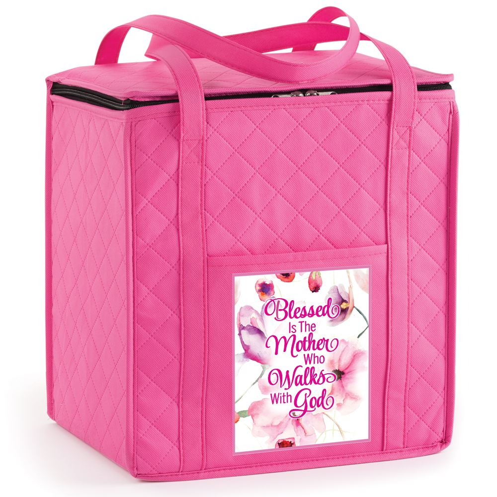 Blessed is The Mother Who Walks With God Verona Non-Woven Insulated Shopper Tote