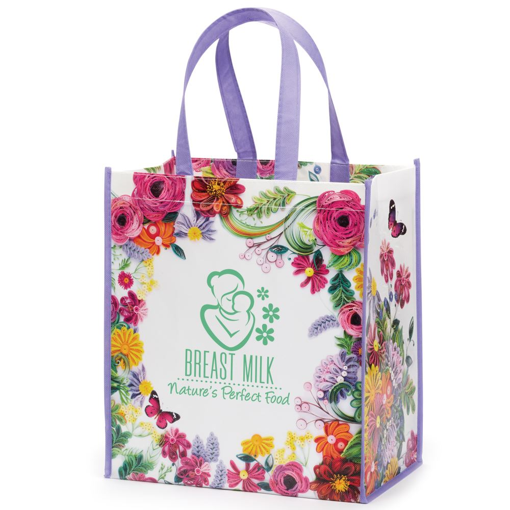 Breast Milk: Nature's Perfect Food Floral Non-Woven Laminated Tote Bag