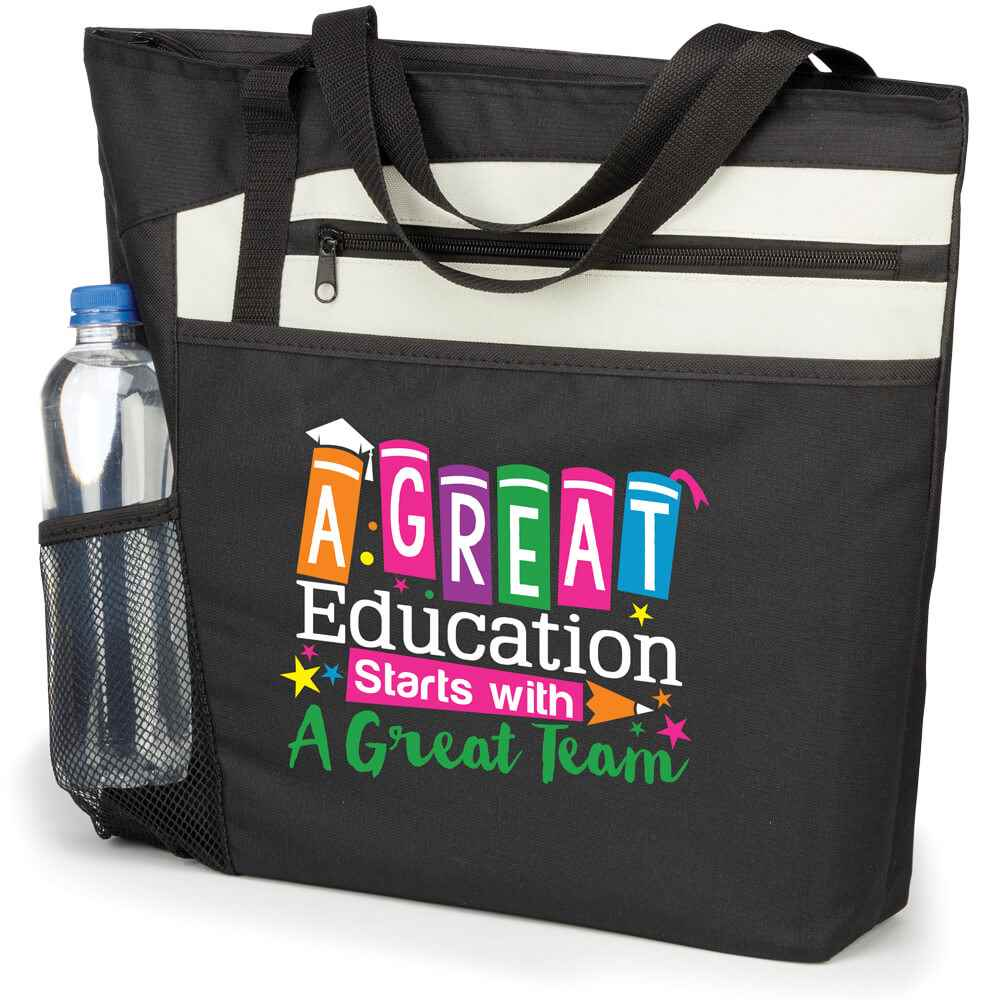 A Great Education Starts With A Great Team Mercer Tote Bag