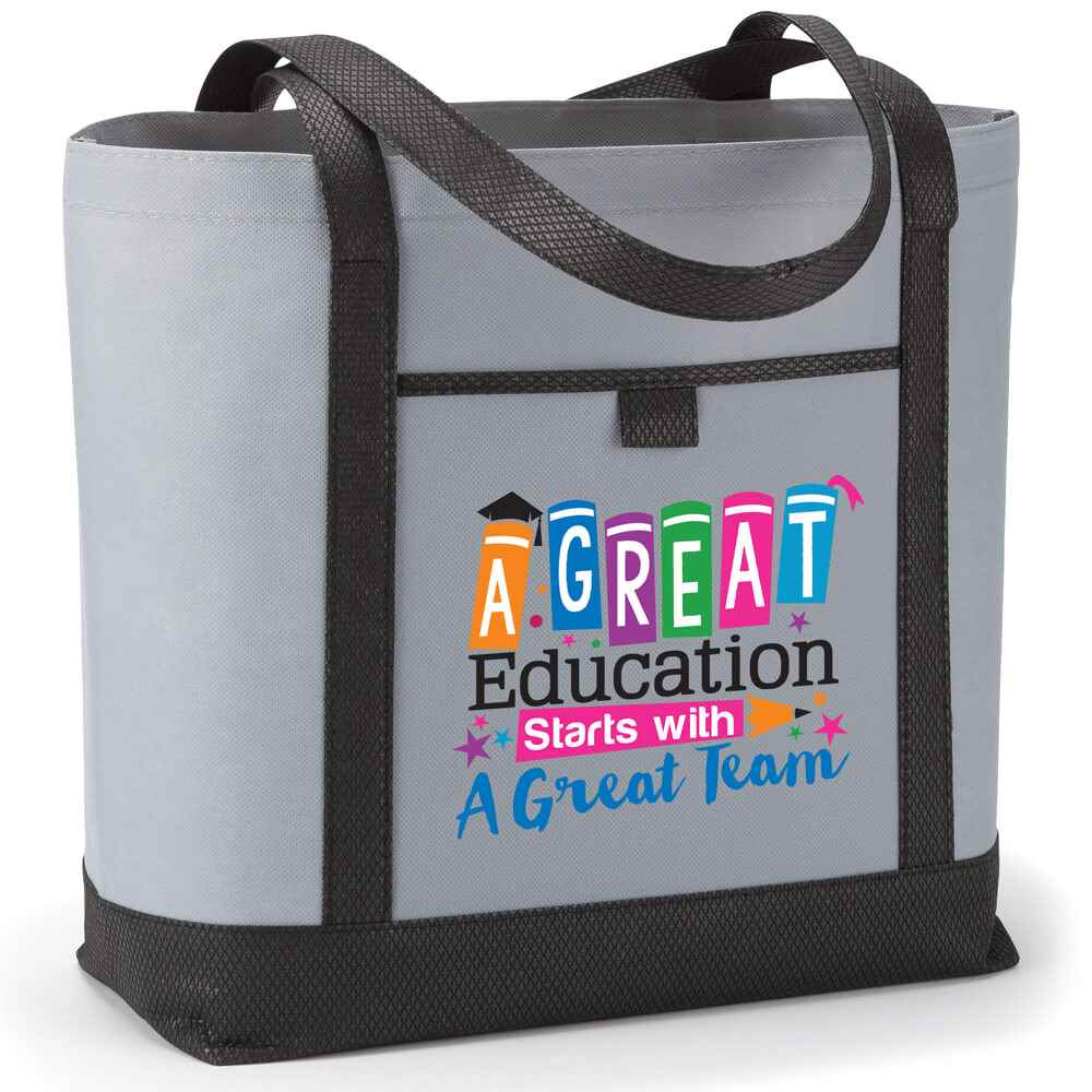 A Great Education Starts With A Great Team Gray Greenport Non-Woven Boat Bag