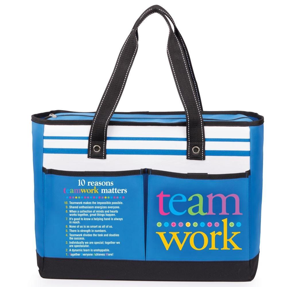 Teamwork/10 Reasons Teamwork Matters Traveler Two-Pocket Tote Bag