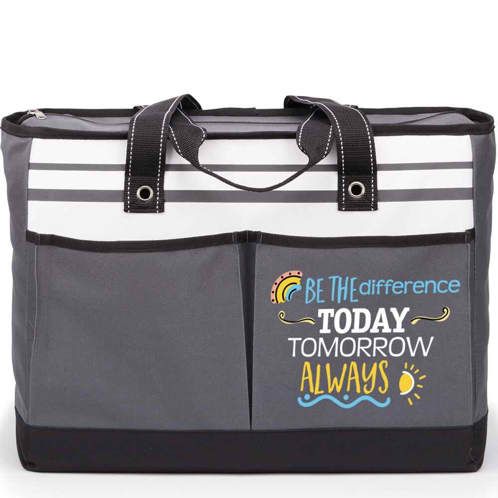 Be The Difference: Today, Tomorrow, Always Traveler Two-Pocket Tote Bag