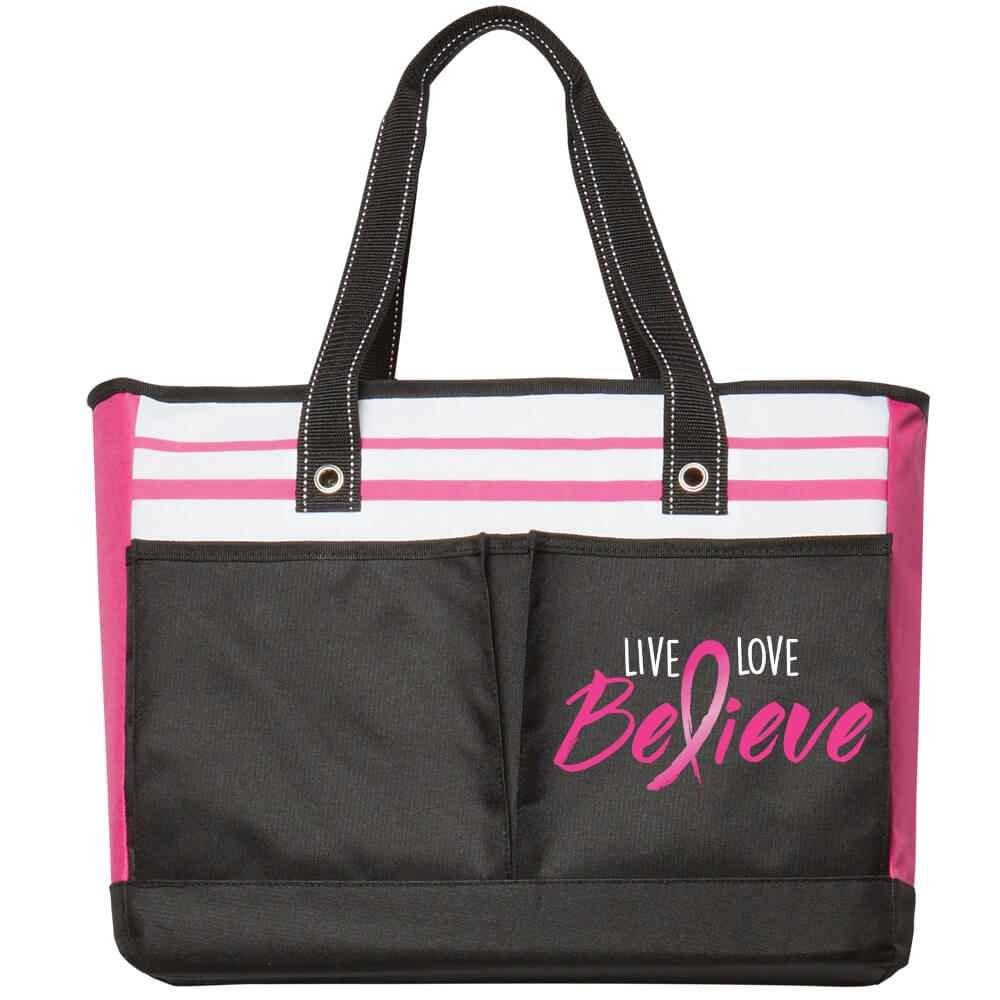 Live, Love, Believe Traveler Two-Pocket Tote Bag