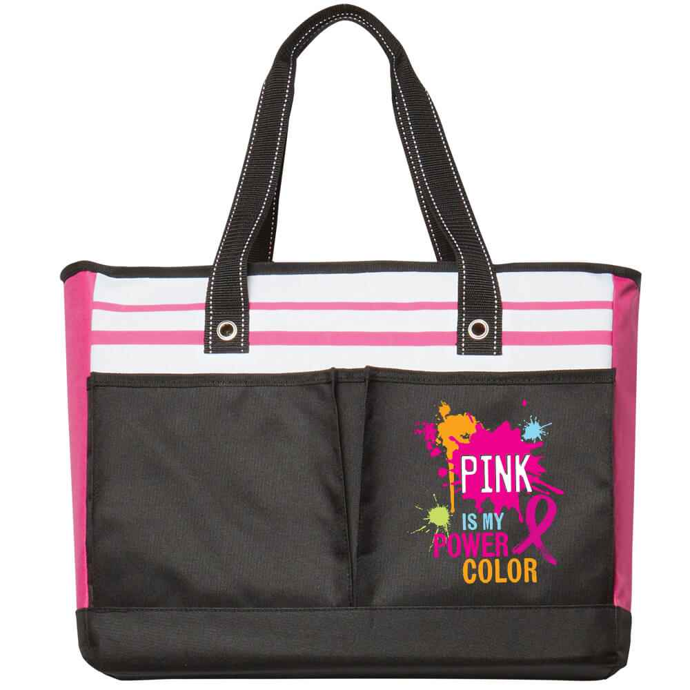 Pink Is My Power Color Traveler Two-Pocket Tote Bag