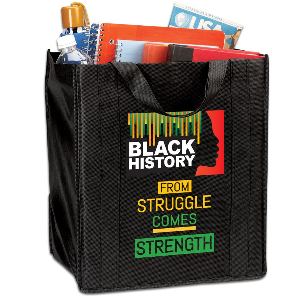 Black History: From Struggle Comes Strength Tote Bag