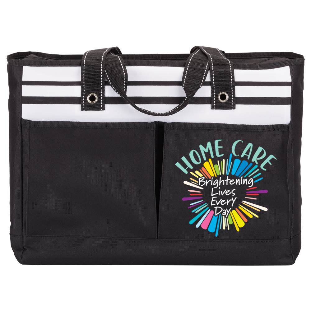 Home Care: Brightening Lives Every Day Traveler Two-Pocket Tote Bag