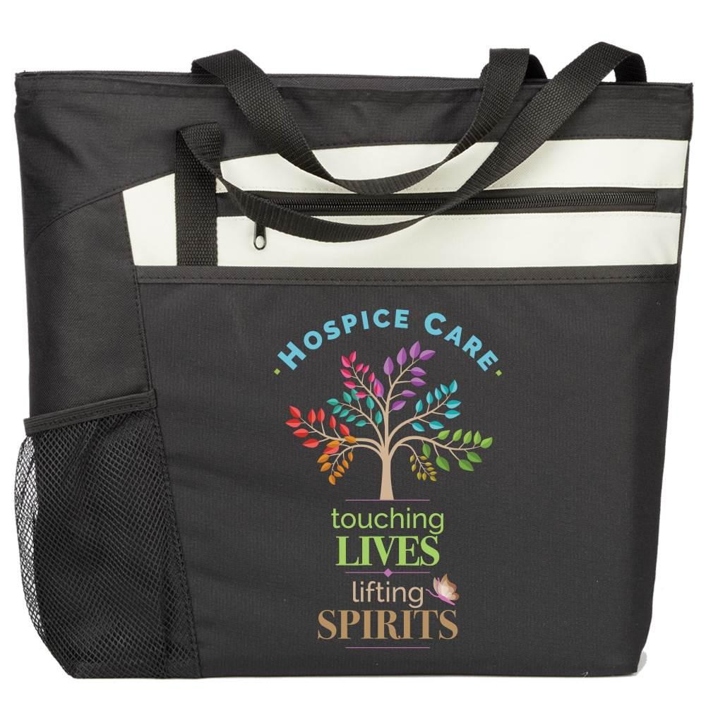 Hospice Care: Touching Lives, Lifting Spirits Mercer Tote Bag
