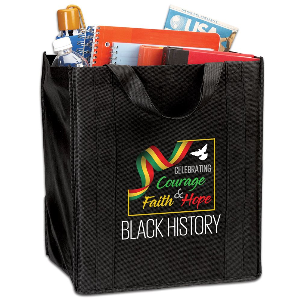 Black History: Celebrating Courage, Faith & Hope Tote Bag