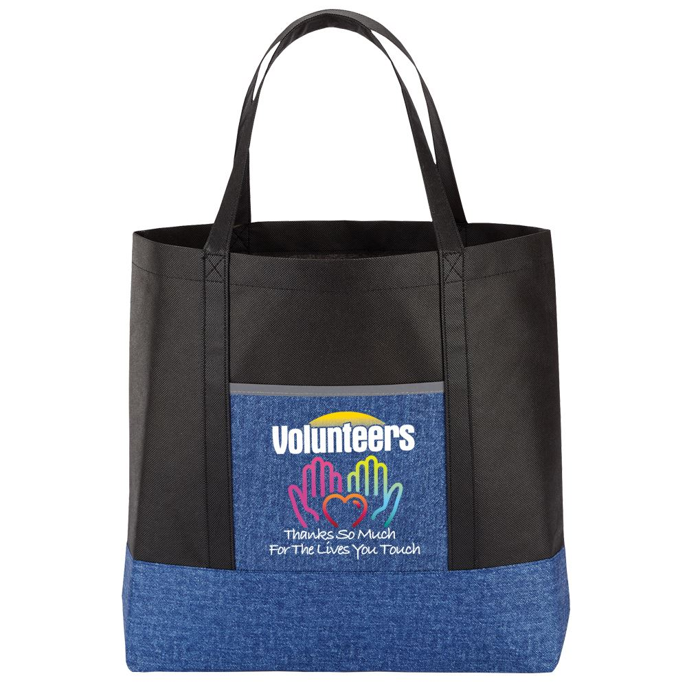 Volunteers: Thanks So Much For The Lives You Touch Denim Non-Woven Tote Bag