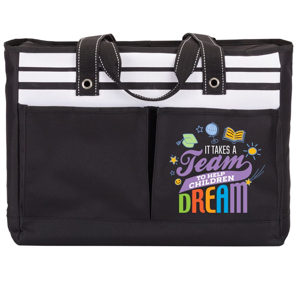 It Takes A Team To Help Children Dream Traveler Tote