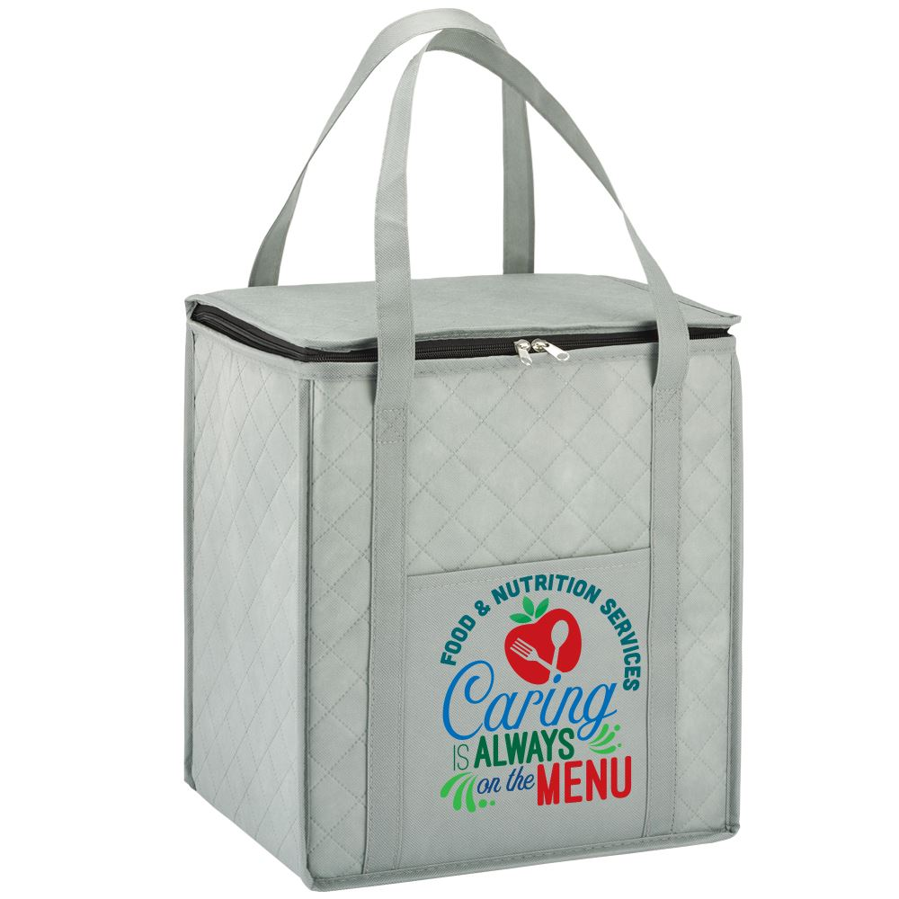 Caring Is Always On The Menu Verona Non-Woven Insulated Shopper Tote Bag