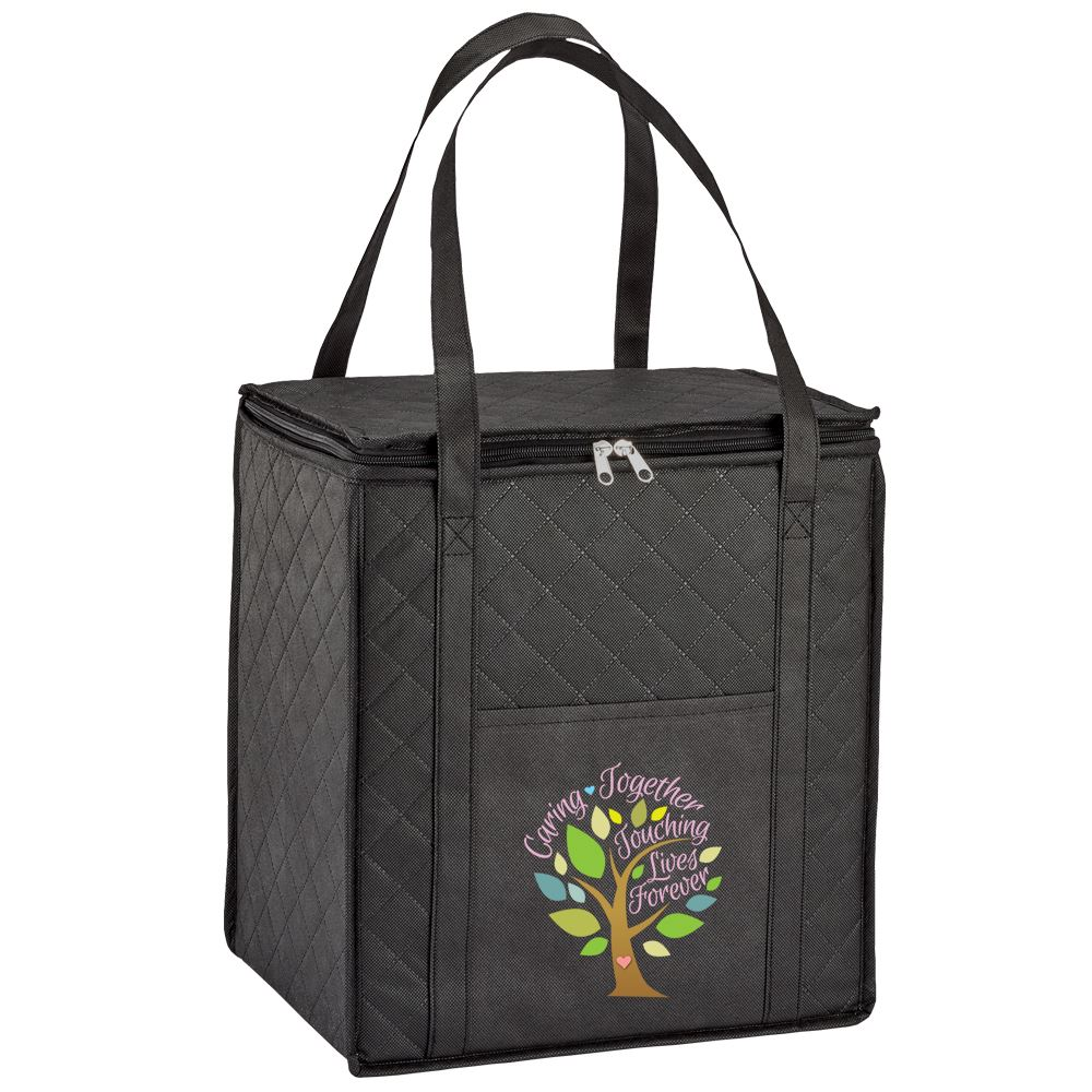 Caring Together Touching Lives Forever Verona Non-Woven Shopper Tote