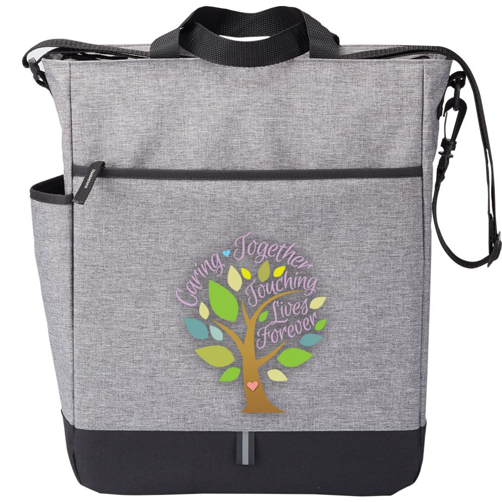 Caring Together Touching Lives Forever Fairfield Crossbody Tote Bag