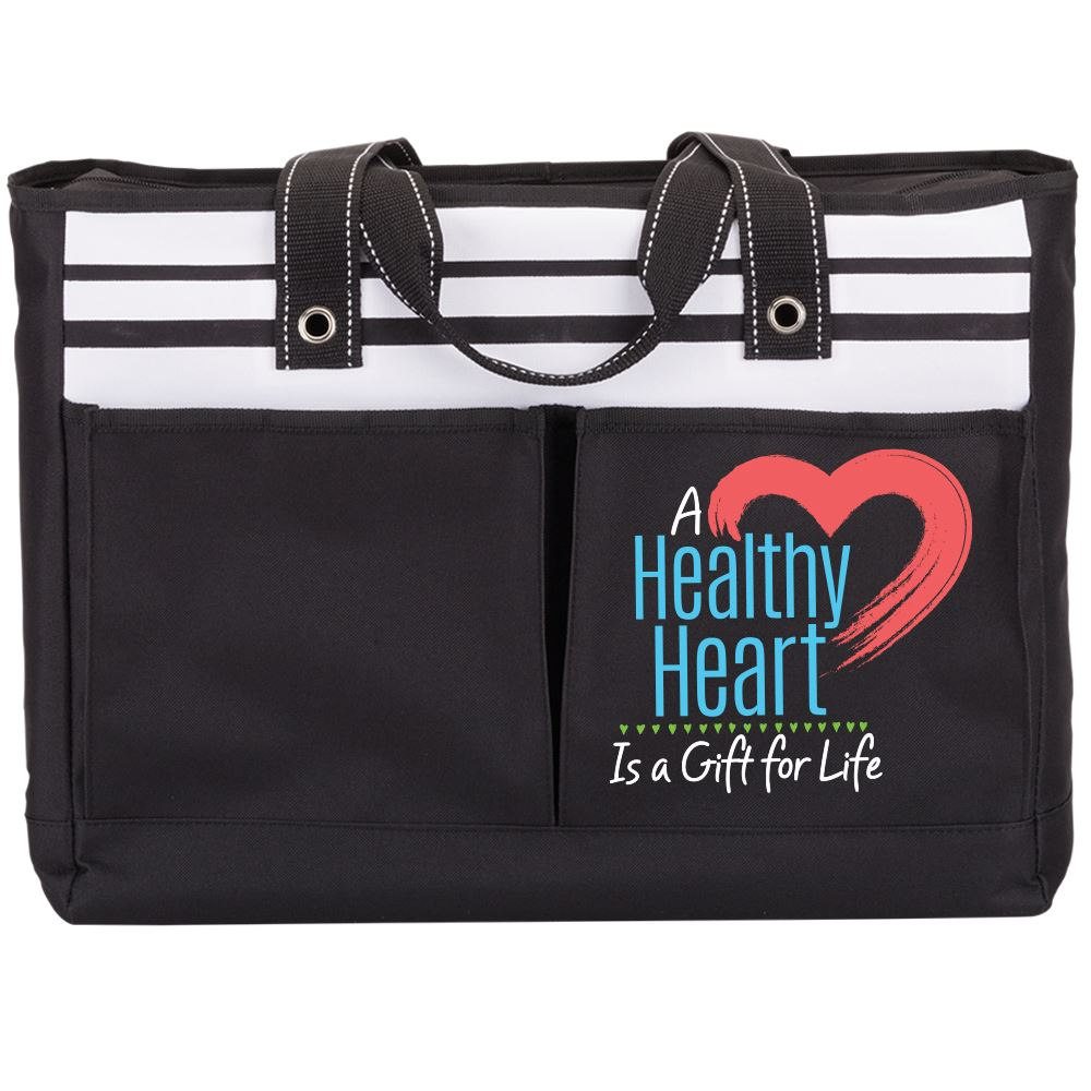 A Healthy Heart Is A Gift For Life Traveler Two-Pocket Tote Bag