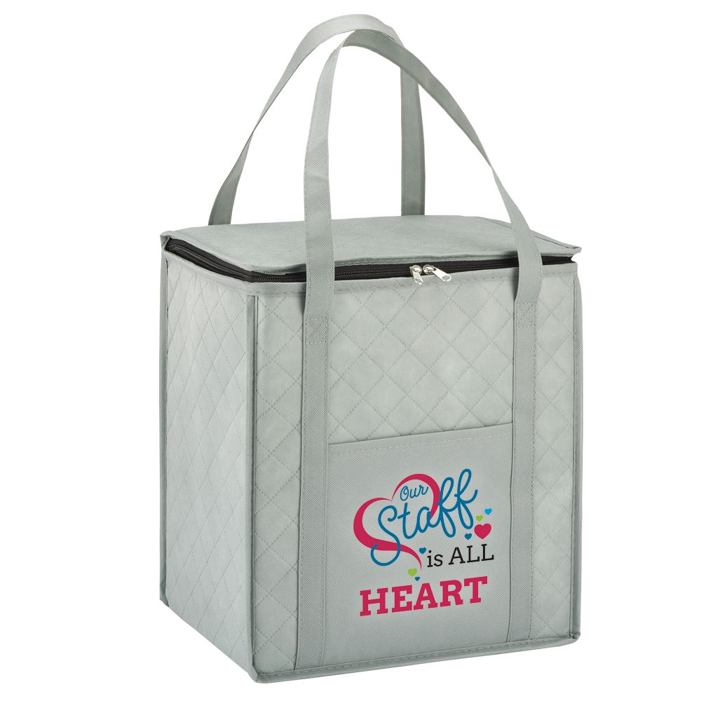 Our Staff Is All Heart Verona Non-Woven Insulated Shopper Tote