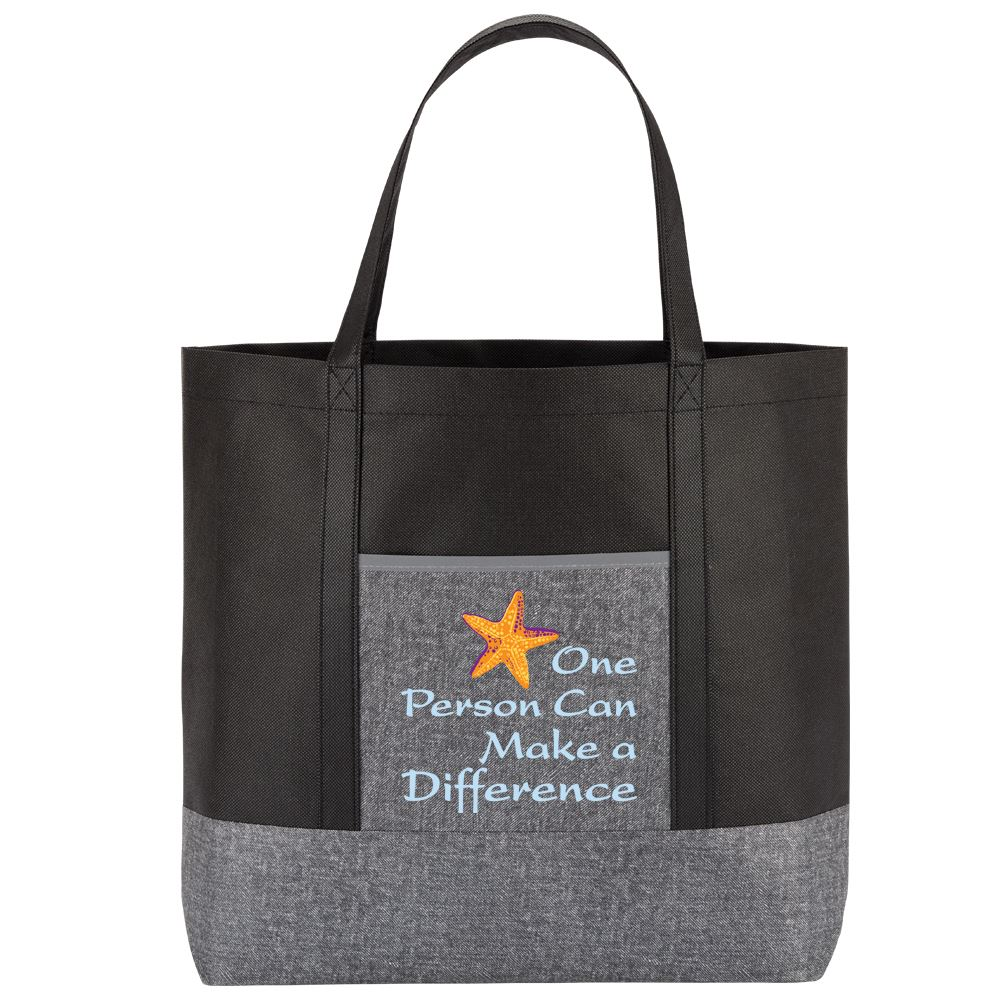One Person Can Make A Difference Denim Non-Woven Tote Bag