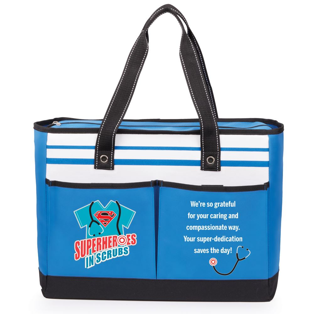 Superheroes In Scrubs Traveler Two-Pocket Tote Bag