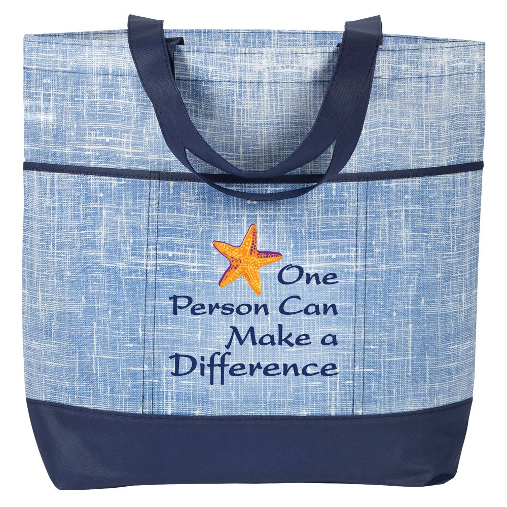 One Person Can Make A Difference Malibu Non-Woven Tote Bag
