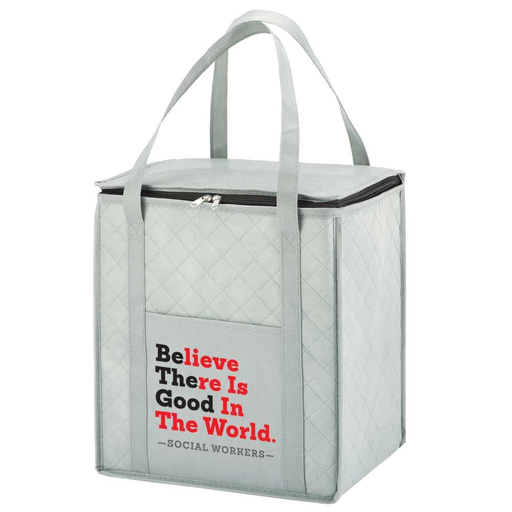 Social Workers Believe There Is Good In The World Verona Non-Woven Insulated Shopper Tote