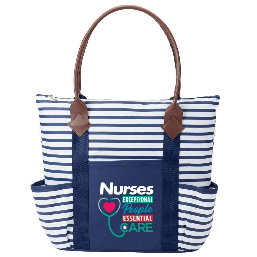 Nurses: Exceptional People, Essential Care Nantucket Tote Bag
