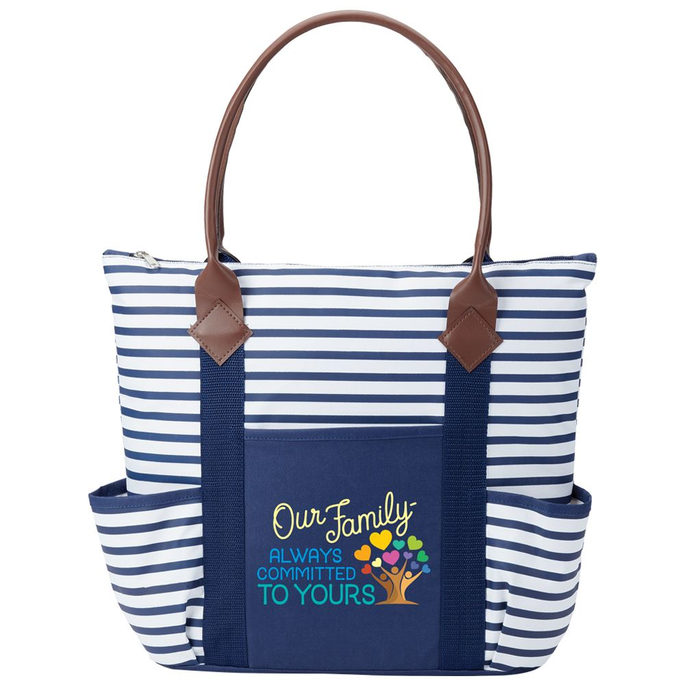 Our Family: Always Committed To Yours Nantucket Tote Bag