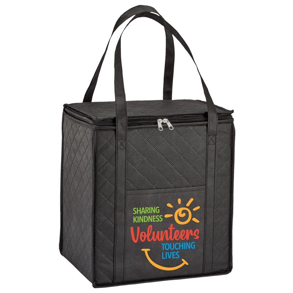 Volunteers:Sharing Kindness, Touching Lives Verona Non-Woven Insulated Shopper Tote