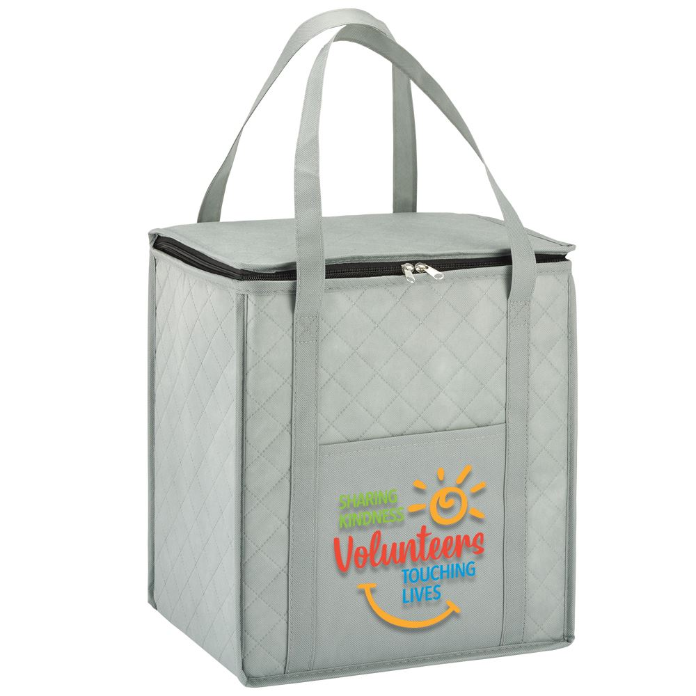 Volunteers: Sharing Kindness, Touching Lives Verona Non-Woven Insulated Shopper Tote