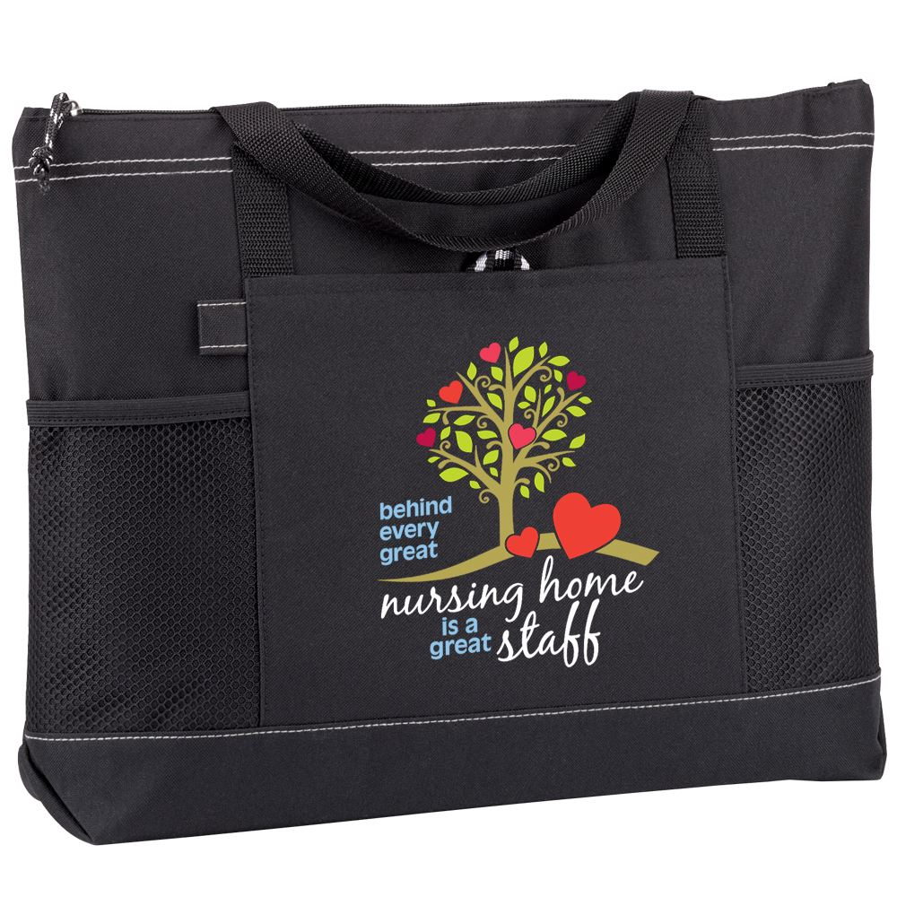 Behind Every Great Nursing Home Is A Great Staff Moreno Multi-Pocket Tote Bag