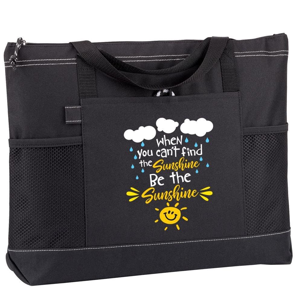 When You Can't Find Sunshine, Be Sunshine Moreno Multi-Pocket Tote Bag