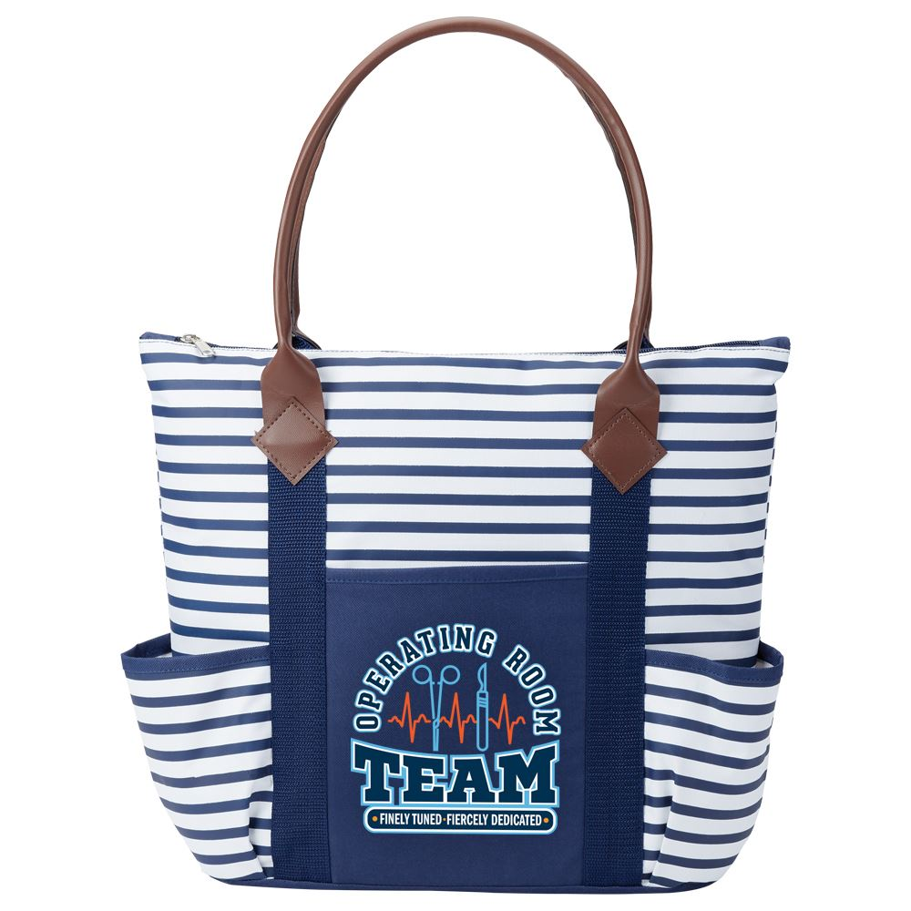 Operating Room Team: Finely Tuned, Fiercely Dedicated Nantucket Tote Bag