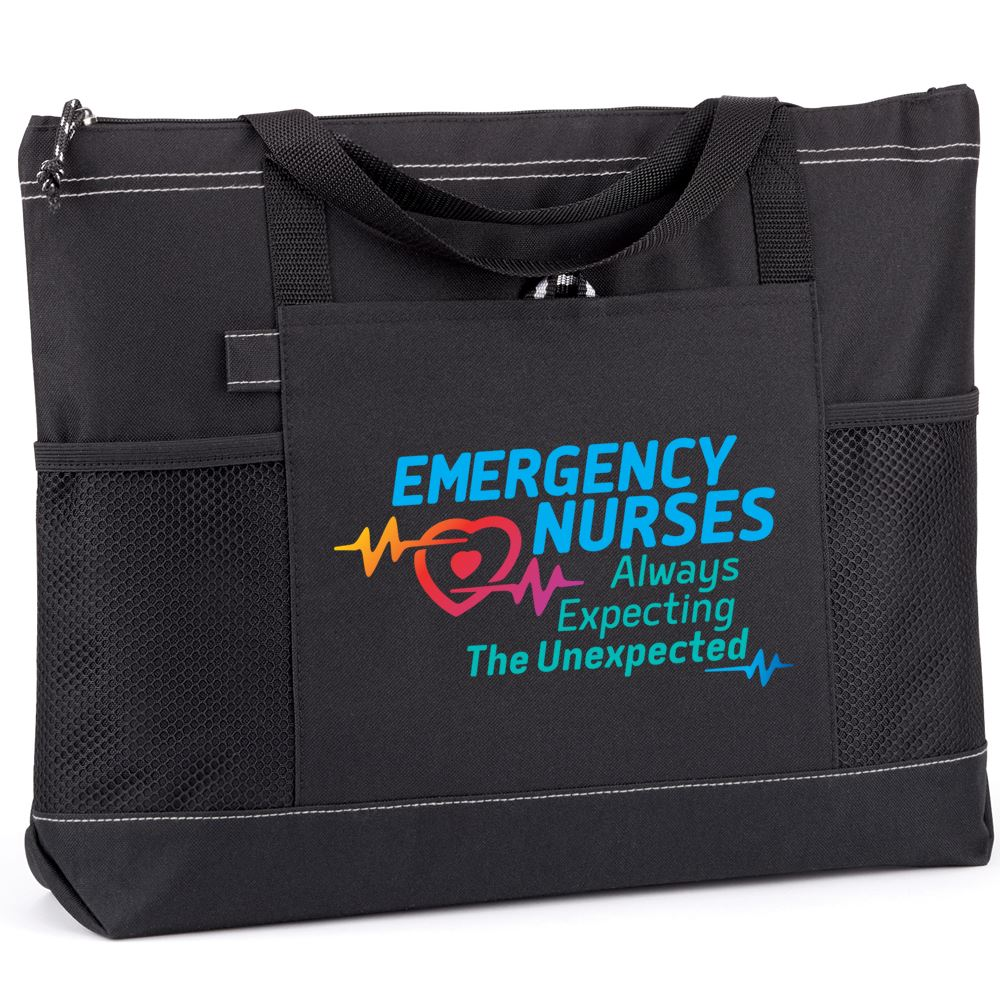 Emergency Nurses: Always Expecting The Unexpected Moreno Multi-Pocket Tote Bag
