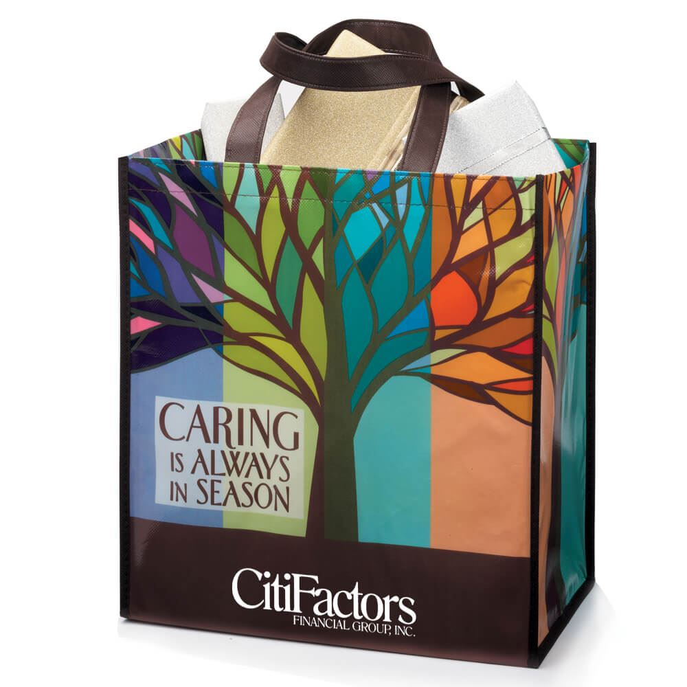 Caring Is Always In Season Full Color Laminated Eco Tote - Personalization Available