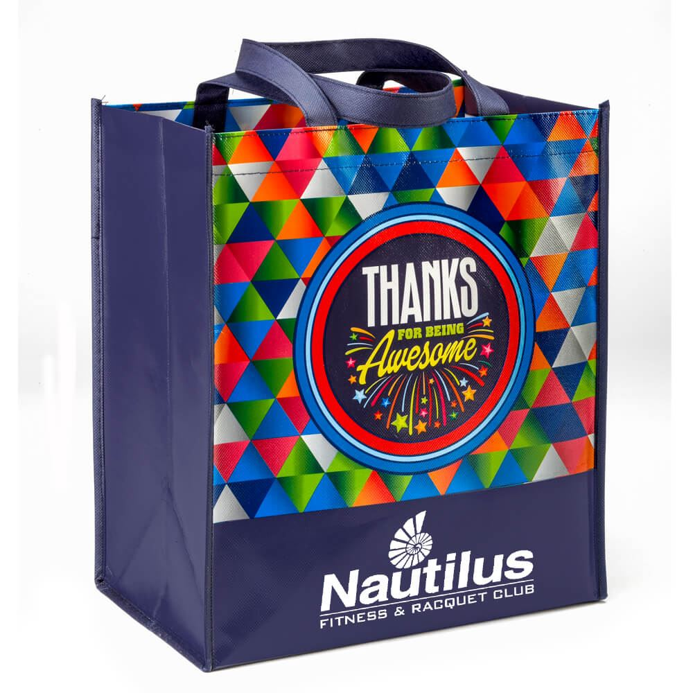 Thanks For Being Awesome Non-Woven Laminated Tote - Personalization Available