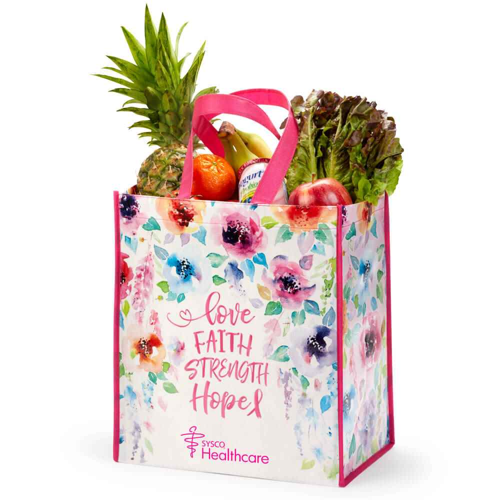 Love, Faith, Strength, Hope Laminated Eco-Shopper Tote With Personalization