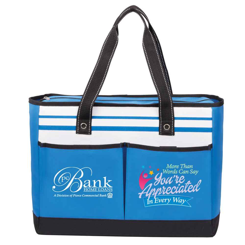 More Than Words Can Say You're Appreciated In Every Way Traveler Two-Pocket Tote Bag - Personalization Available