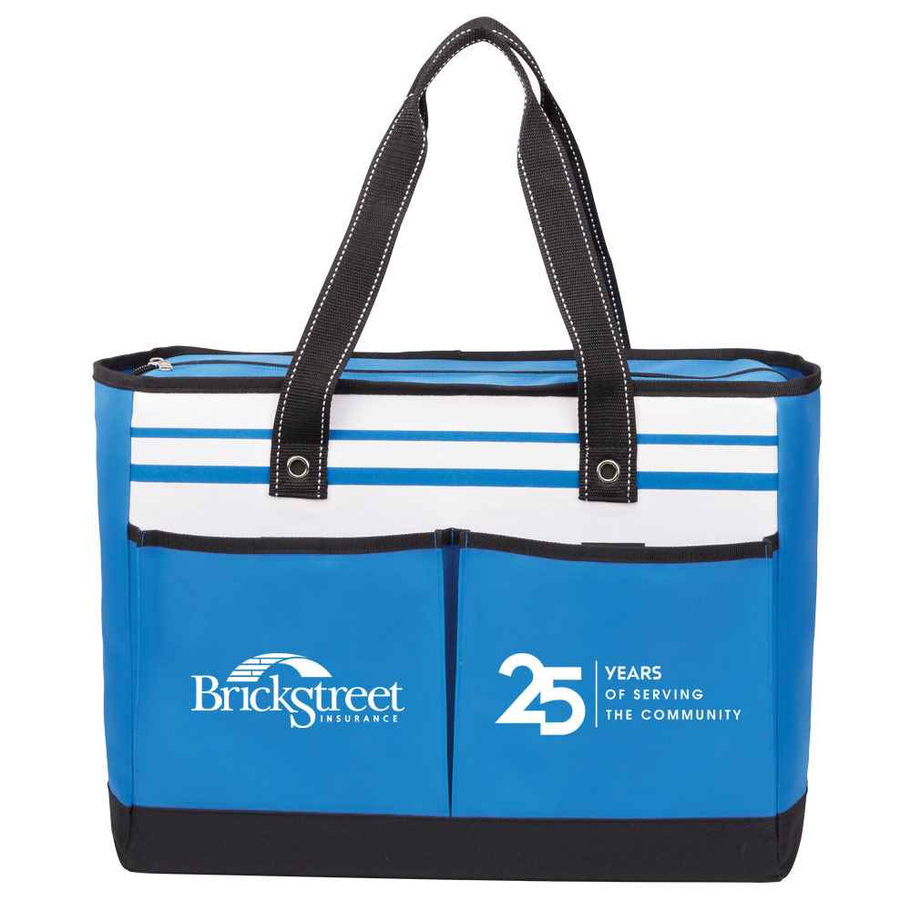 25th Anniversary Blue Traveler Two-Pocket Tote Bag Plus Personalization