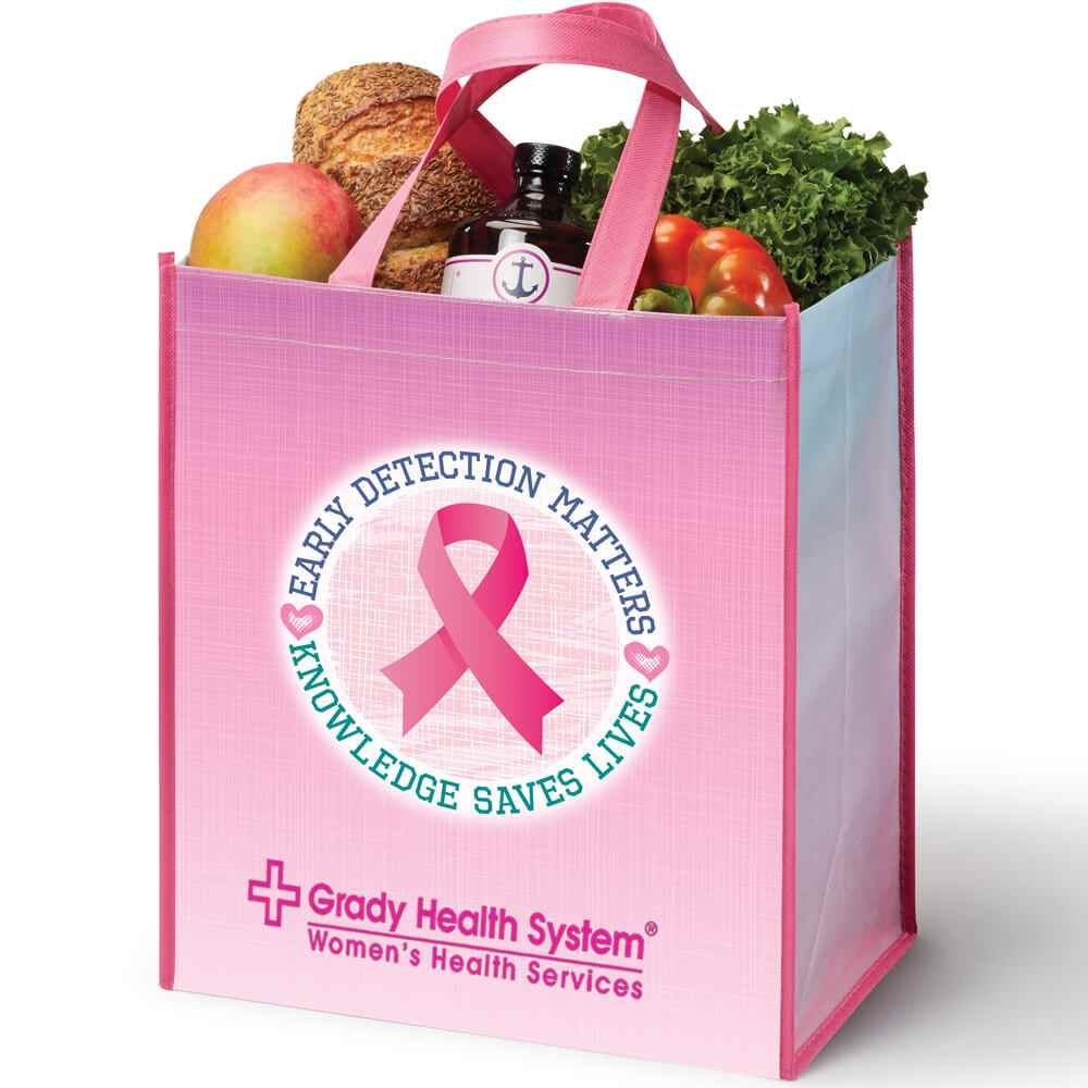 Early Detection Matters...Knowledge Saves Lives Non-Insulated Laminated Eco-Shopper Tote Bag Plus Personalization