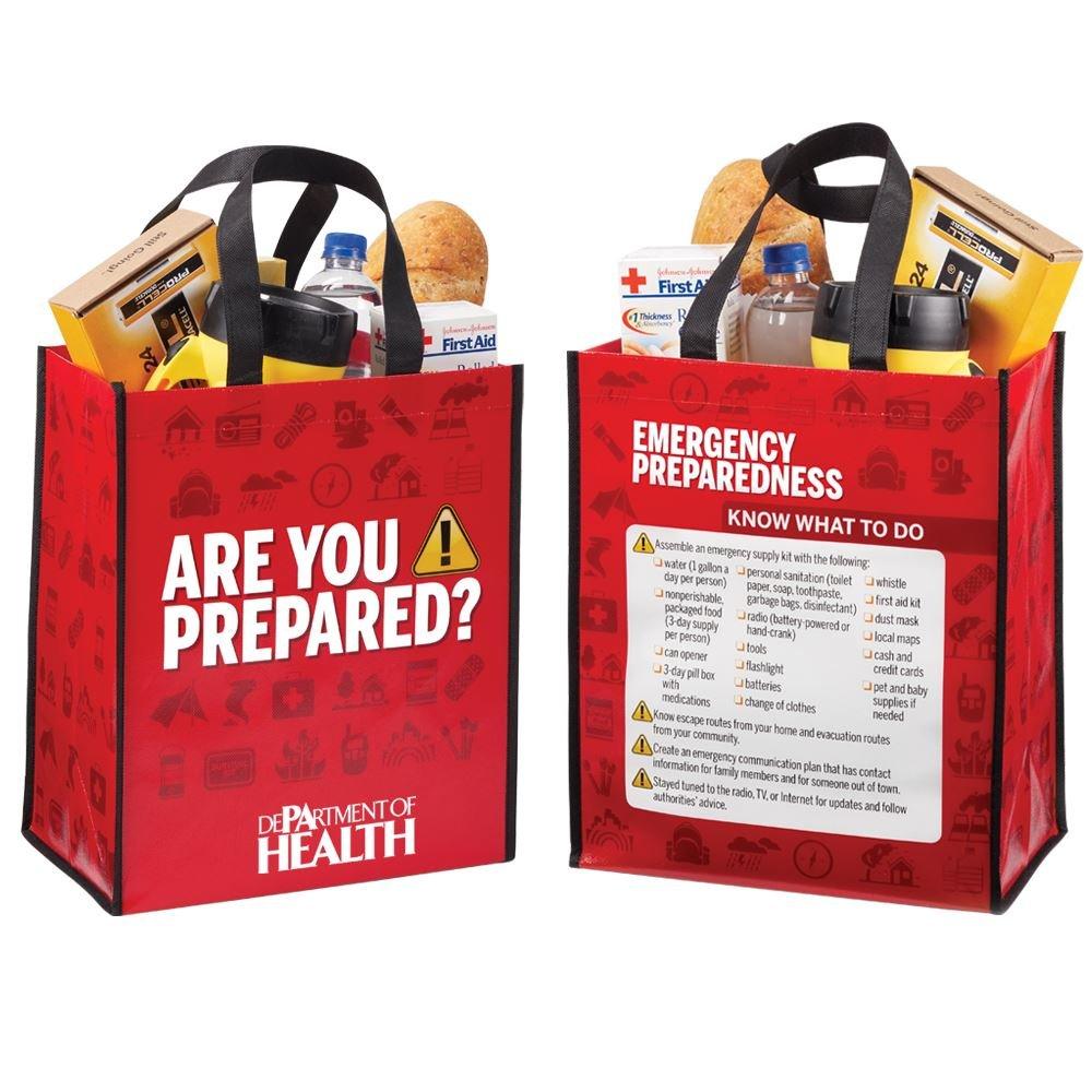 Are You Prepared? Non-Insulated Laminated Eco-Shopper Tote - Personalization Available