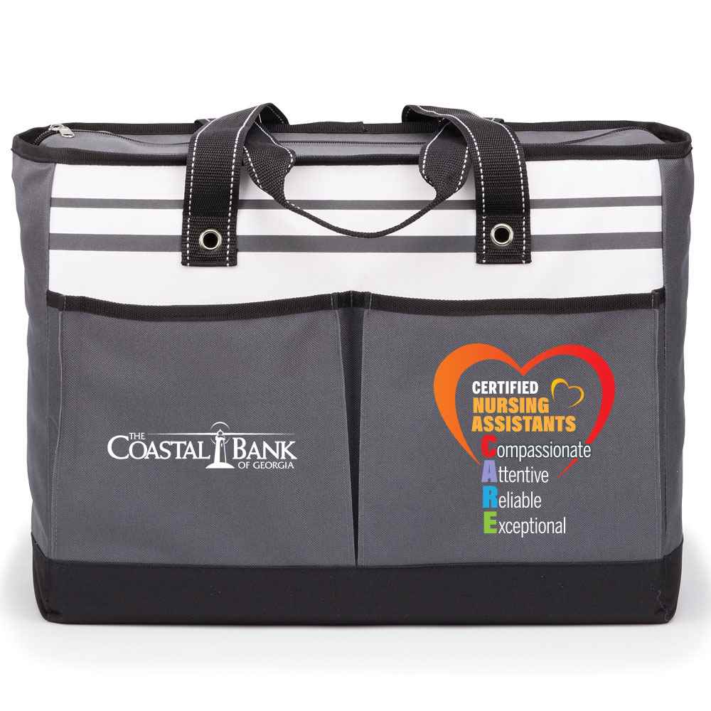 Certified Nursing Assistants: CARE Traveler Two-Pocket Tote Bag Plus Personalization