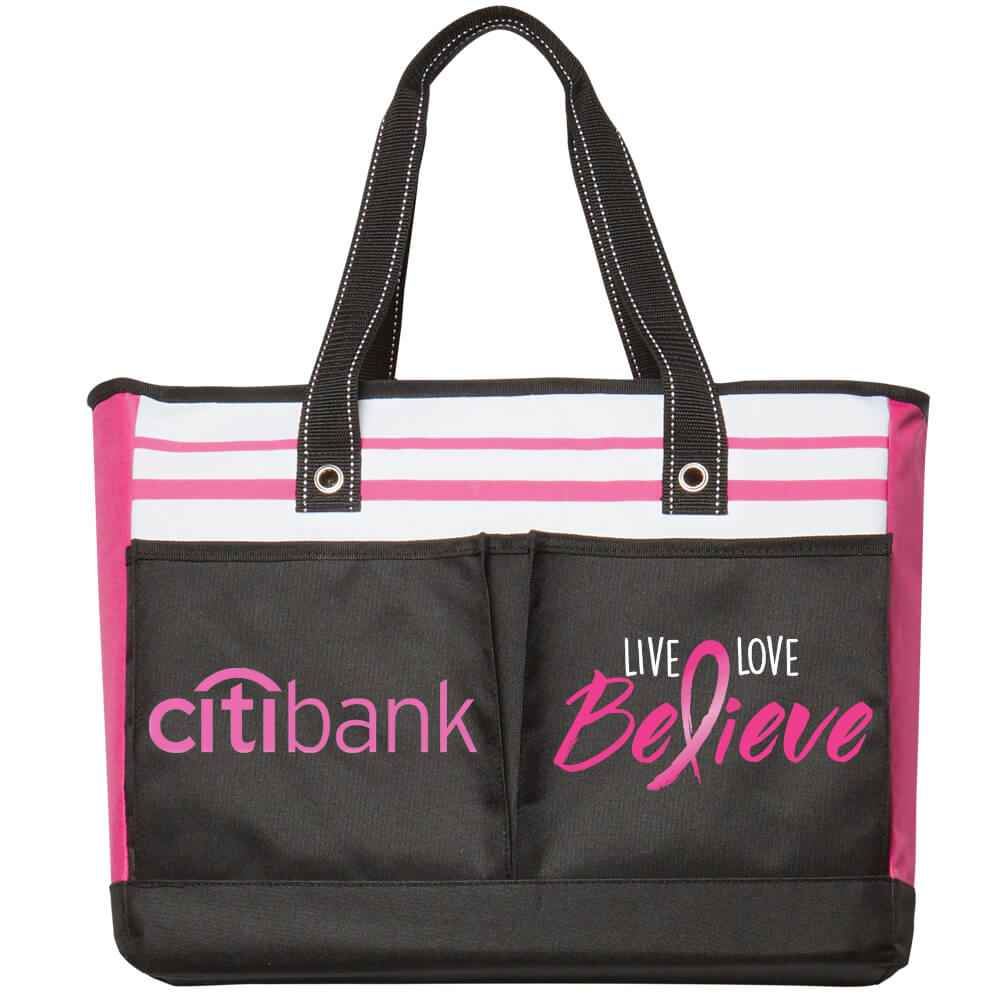 Live, Love, Believe Traveler Two-Pocket Tote Bag Plus Personalization