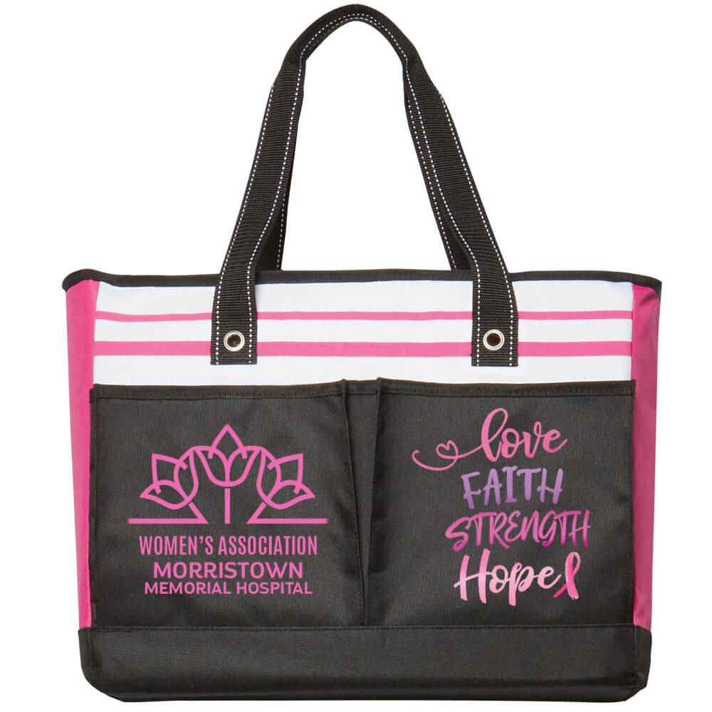 Love, Faith, Strength, Hope Traveler Two-Pocket Tote Bag Plus Personalization