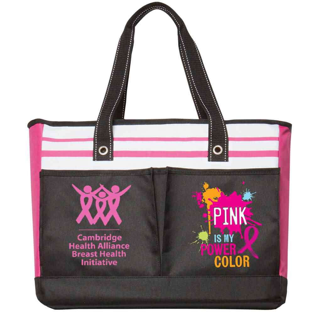 Pink Is My Power Color Traveler Two-Pocket Tote Bag Plus Personalization
