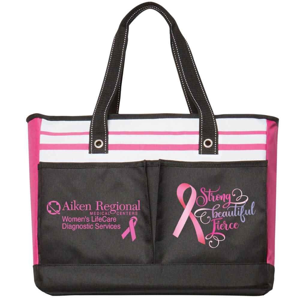 Strong, Beautiful, Fierce Traveler Two-Pocket Tote Bag Plus Personalization